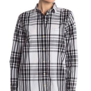 NWT J. Crew Plaid Relaxed Button Down Shirt XS